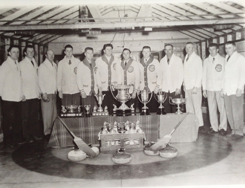 Classic Curling Photo Duff, Saskatchewan 1954!