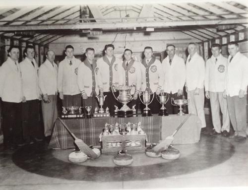 Classic Curling Photo Duff, Saskatchewan 1954!